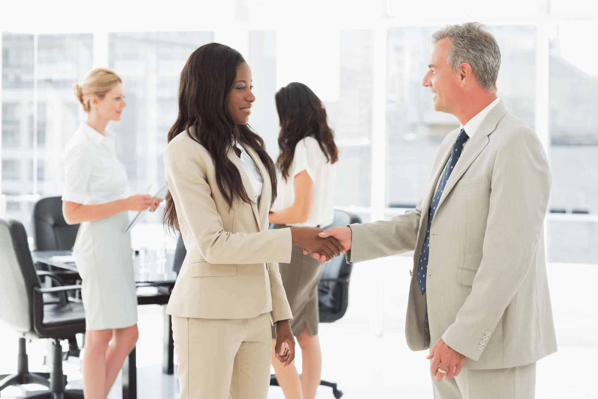 Dealer partners shaking hands